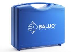 walizka plastikowa z nadrukiem